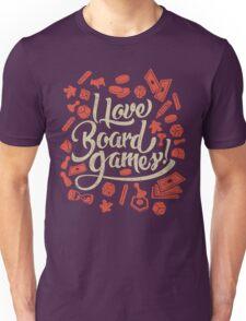 I Love Board Games Unisex T-Shirt