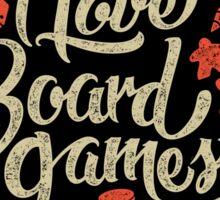 I Love Board Games Sticker