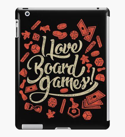 I Love Board Games iPad Case/Skin