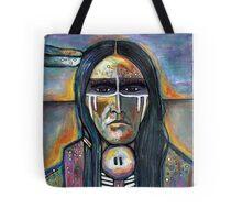 Native American war paint Tote Bag