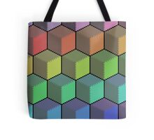 Colorful Cube Cascade! Tote Bag