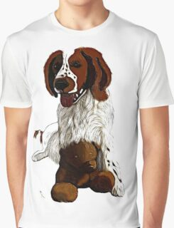 Springer Spaniel With Teddy Graphic T-Shirt