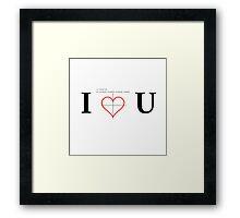 Geeky Love Plot Framed Print