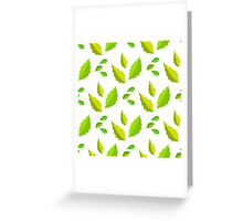 light and dark green acute leaves Greeting Card