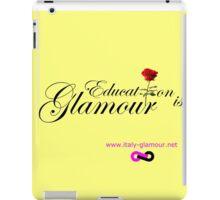 Education is Glamour - light yellow iPad Case/Skin