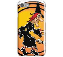 Cartoon Witch on a Broom iPhone Case/Skin
