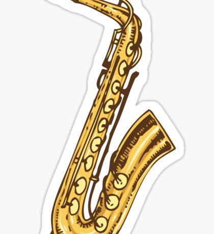 Saxophone Sticker