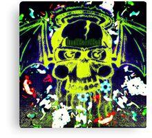 Halo SkullBat Canvas Print
