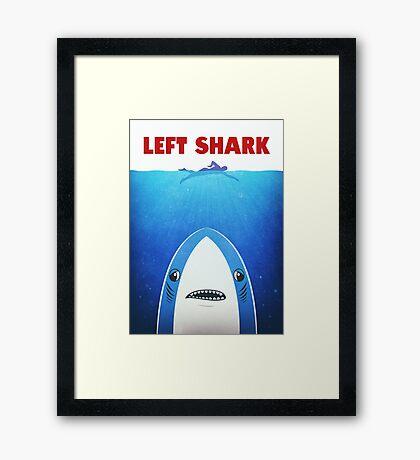 Left Shark Parody - Jaws - Funny Movie / Meme Humor Framed Print