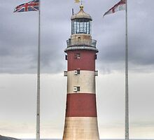 Plymouth Hoe Lighthouse by missmoneypenny