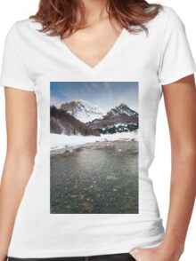River Veral in Zuriza Women's Fitted V-Neck T-Shirt