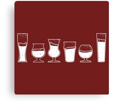 Collection of Vintage Beer Glasses Canvas Print