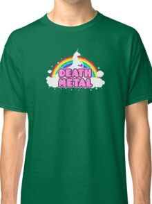 DEATH METAL! (Funny Unicorn / Rainbow Mosh Parody Design) Classic T-Shirt