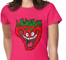 Jeffy the Insane Strawberry Womens Fitted T-Shirt
