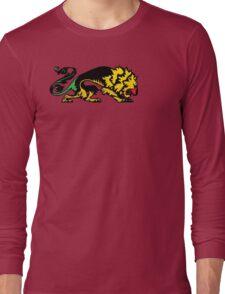 Heraldic Grunge Reggae Lion Heraldry Style Long Sleeve T-Shirt