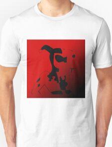 Harley Quinn Ombre Silhouette  Unisex T-Shirt