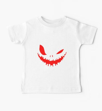 Scary Devil Face for Halloween Baby Tee