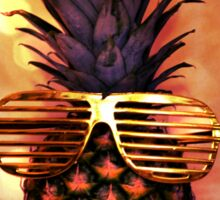 Pineapple with Grill Glasses Sticker