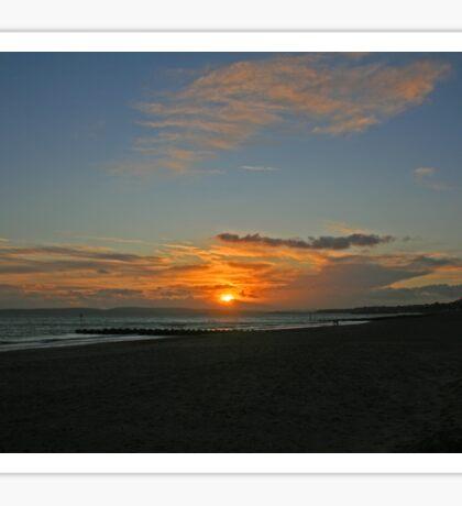 Boscombe Sunset Sticker
