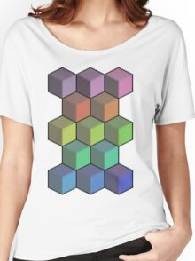 Colorful Cube Cascade! Women's Relaxed Fit T-Shirt
