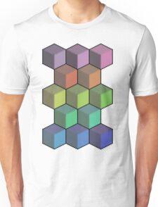 Colorful Cube Cascade! Unisex T-Shirt
