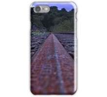Leaf on the track  iPhone Case/Skin