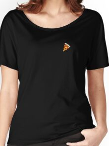 Cool and Trendy Pizza Pattern in Super Acid green / turquoise / blue Women's Relaxed Fit T-Shirt