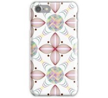 colored lines in circles and geometric quatrefoil violet leaves iPhone Case/Skin