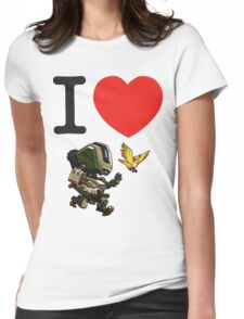 I Heart Bastion Cute Spray Womens Fitted T-Shirt
