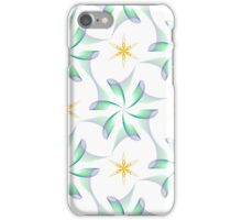 wings like flowers and yellow six angle stars iPhone Case/Skin