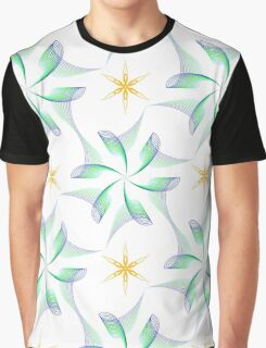 wings like flowers and yellow six angle stars Graphic T-Shirt