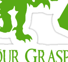 'Your grasp of biology' quote 2 Sticker