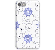 blue east ornate branches and nine angle stars iPhone Case/Skin