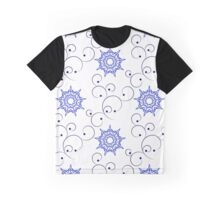 blue east ornate branches and nine angle stars Graphic T-Shirt