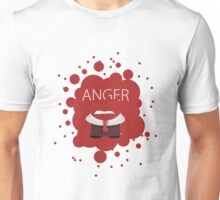 Anger - Inside Out - Minimalist Art Unisex T-Shirt
