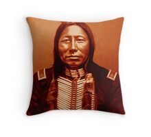 Chief Crow King-The Sioux Throw Pillow