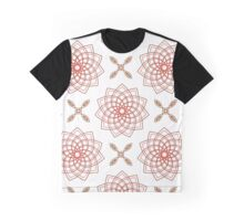 geometric weaving pink forms like flowers and four angle flowers Graphic T-Shirt