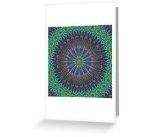 Abstraktes blau-grünes Fraktal Muster Greeting Card