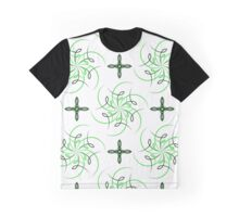 green four angle flowers and figures of wind Graphic T-Shirt