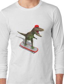 Skateboarding T-Rex Long Sleeve T-Shirt