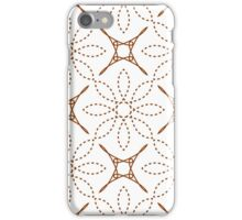 four angle stars and dashed line flowers iPhone Case/Skin