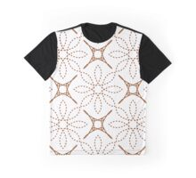 four angle stars and dashed line flowers Graphic T-Shirt