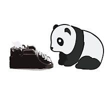 Typewriter Panda Photographic Print
