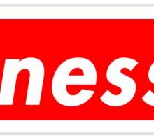 Finesse | Supreme Box Logo | White Background | High Quality! Sticker
