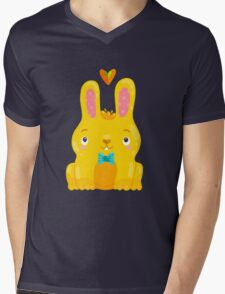 Cute Bunny Mens V-Neck T-Shirt
