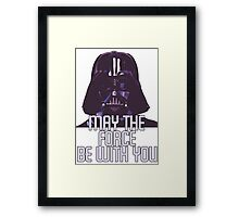 Star Wars - Darth Vader: May The Force Be With You Framed Print