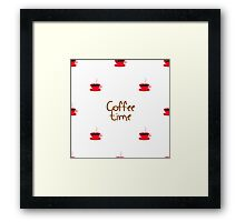 coffee time with cups of coffee Framed Print