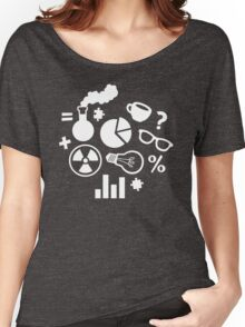 Crazy Science Pattern Women's Relaxed Fit T-Shirt