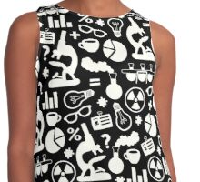 Crazy Science Pattern Contrast Tank
