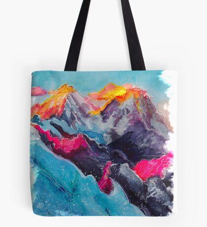Snowy Sunrise Tote Bag